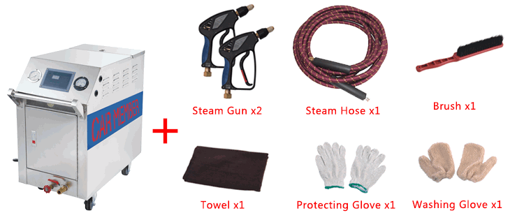 Accessories of Steam Clean Car Seats with C500