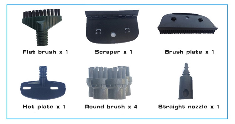 Accessories of 2-in1 Steam & Ozone Machine